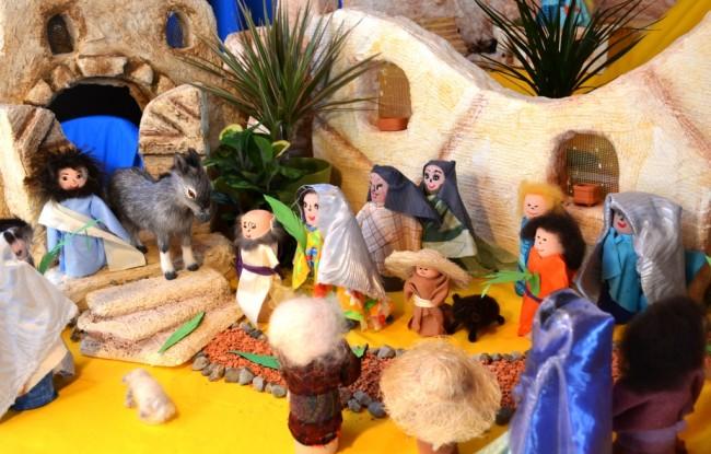 Ostergarten in Möhlin: Einzug in Jerusalem am Palmsonntag