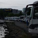 Wohnmobile am Hafen in Oslo